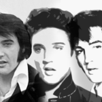 collage of Elvis Presley x 3